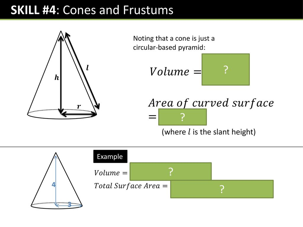 Gcse Volumes And Surface Area