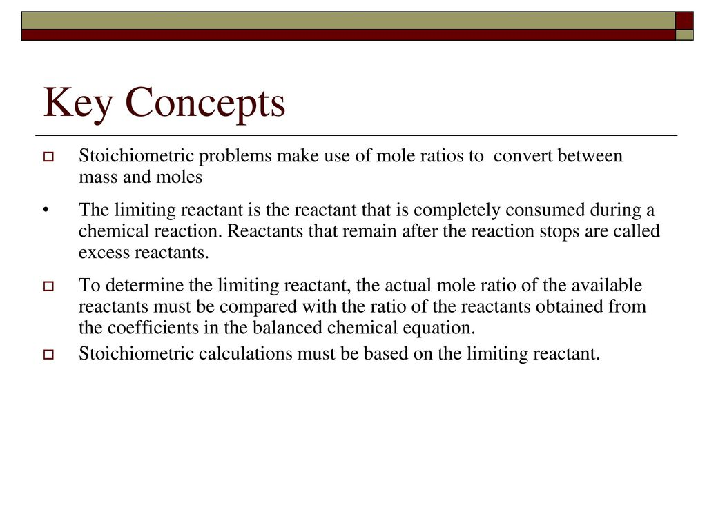 Stoichiometry Chapter Ppt Download