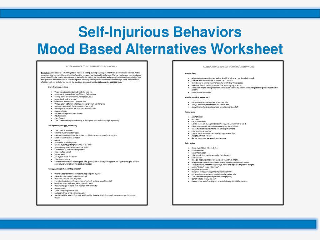 Homicidal Ideation Self Help Worksheet