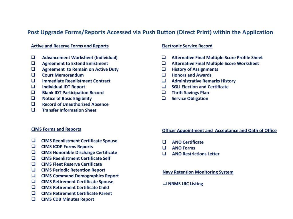 Navy Advancement Worksheet