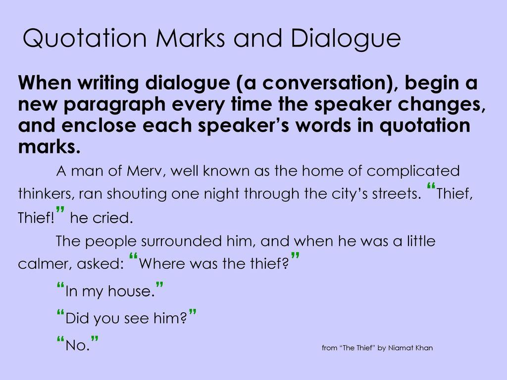 Punctuation End Marks Commas Quotation Marks Italics