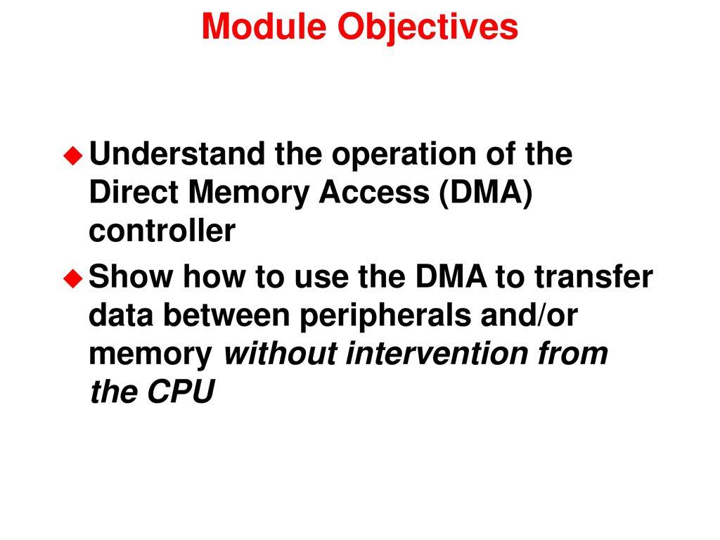 Direct Memory Access Controller