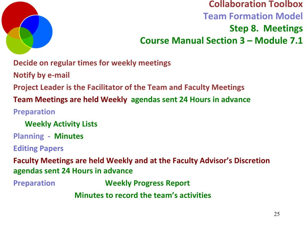 Collaboration Toolbox Project Management Agenda