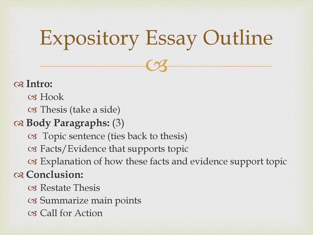 outline of expository essay