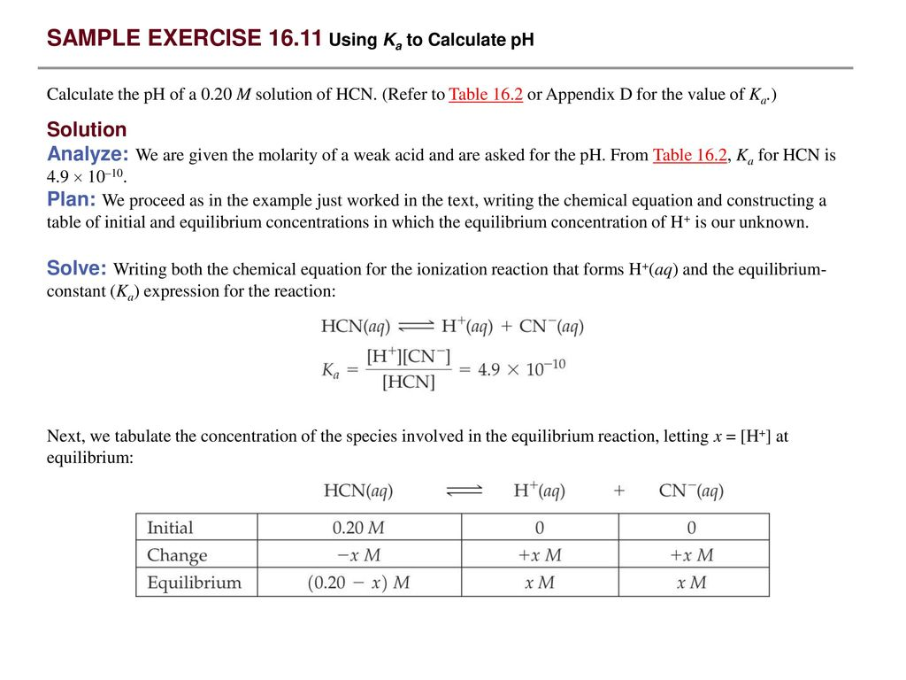 Sample Exercise 16 1 Identifying Conjugate Acids And Bases