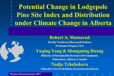 Effects of topography upon mountain pine beetle ...
