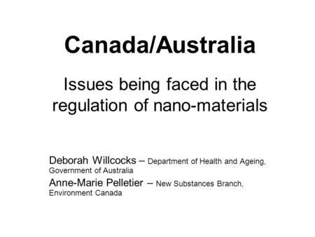 Nanotechnology and Manufactured Nanomaterials: Environment ...