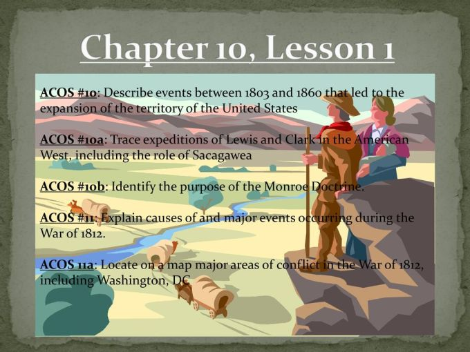 Chapter 10 Lesson 1 Acos 10 Describe Events Between 1803 And 1860 That Led To The Expansion Of The Territory Of The United States Acos 10a Trace Expeditions Ppt Download