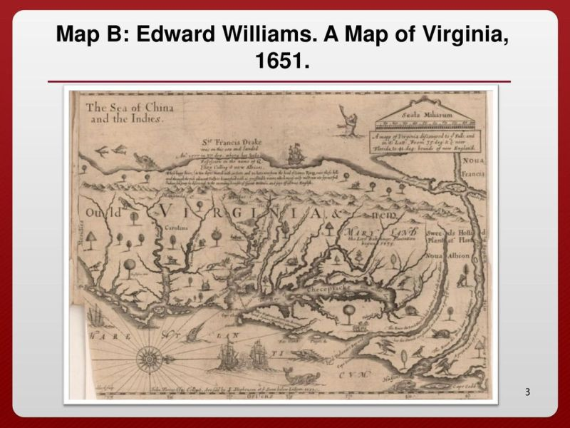 Early Colonial Maps of Virginia   ppt download A Map of Virginia  1651
