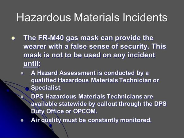 FRM40 Gas Mask Training and Inspection - ppt video online ...