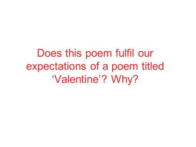 valentine poem by carol ann duffy rhyme scheme valentine gift valentine carol ann duffy imagery the extended metaphor