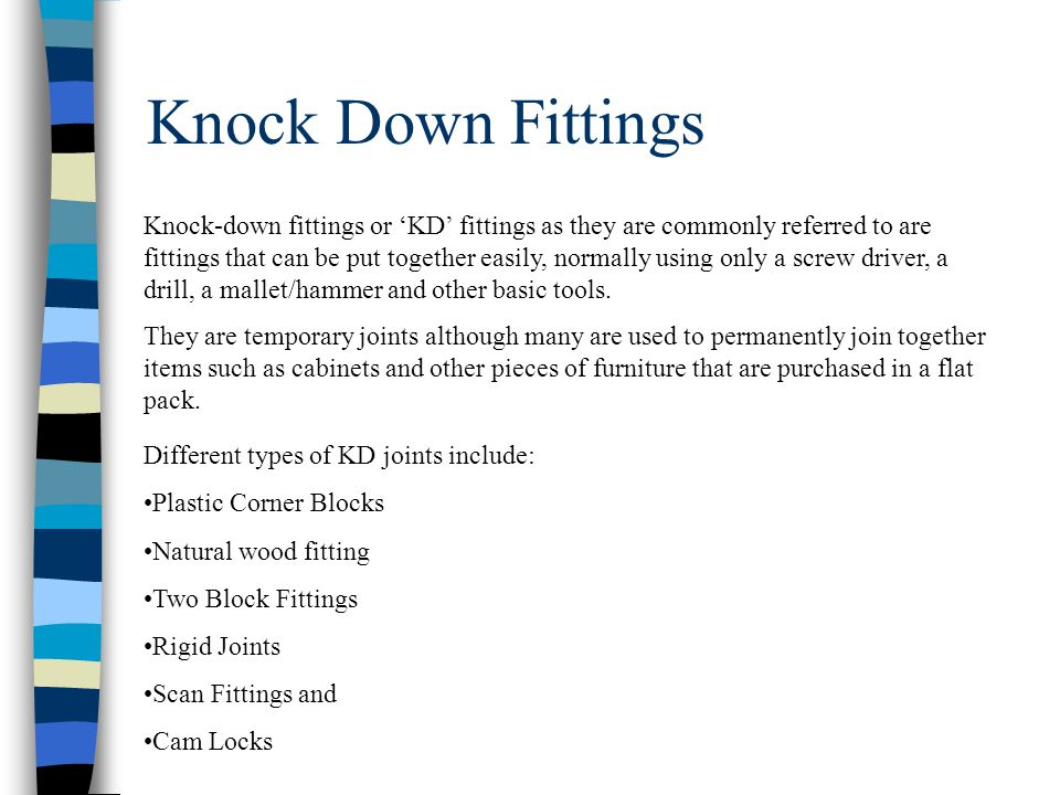 Knock Down Fittings Product Design Ppt Video Online