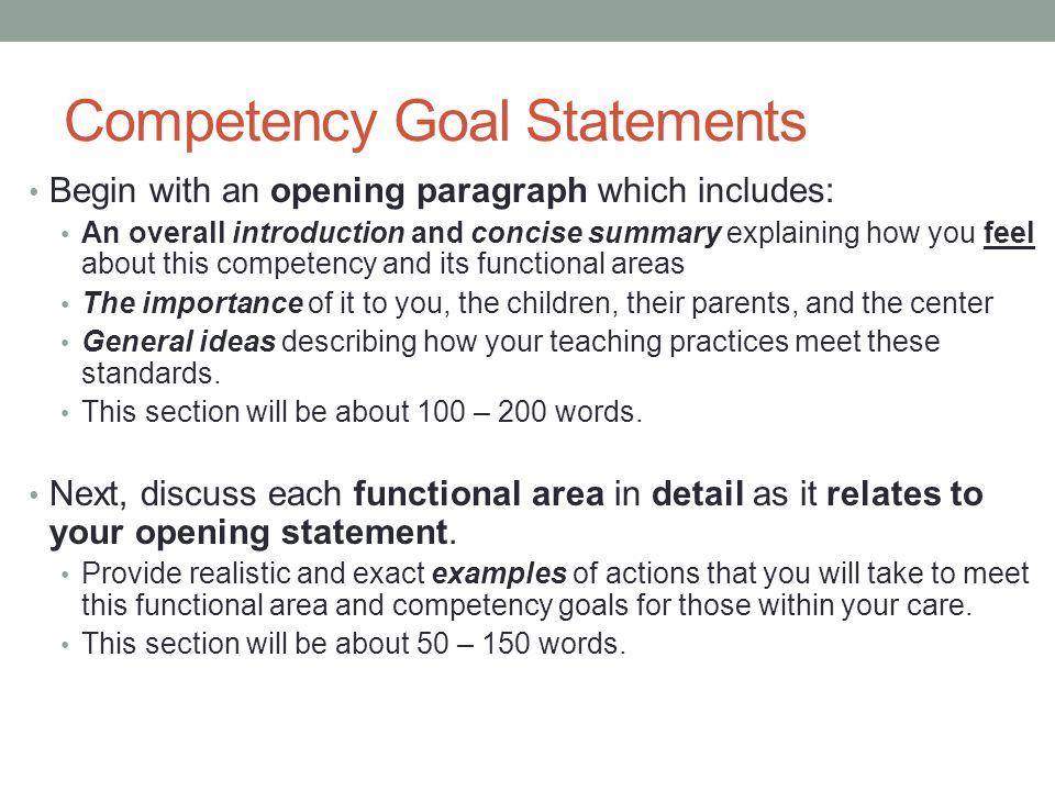 competency essay examples