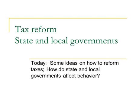 Chapter 10: State and Local Government Expenditures - ppt ...