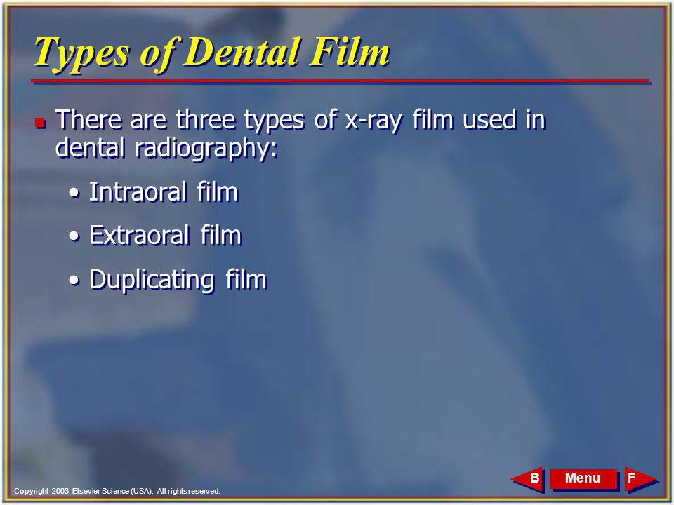 Extra Oral Dental Intra Oral X Ray Images Duplicating Films