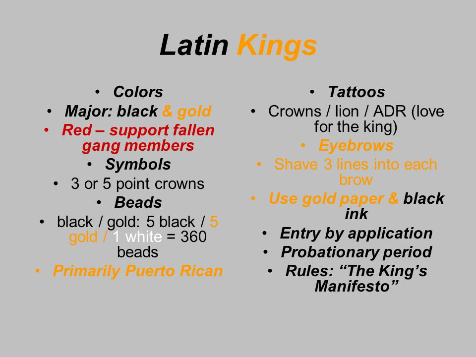 Latin King Beads And Their Meanings