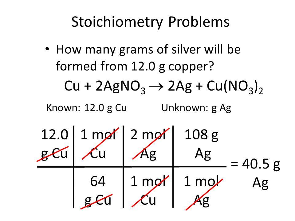 Mole Problems Mole Stoichiometry