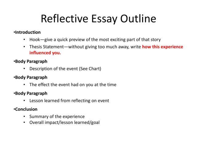 Reflective Essay Outline - ppt download
