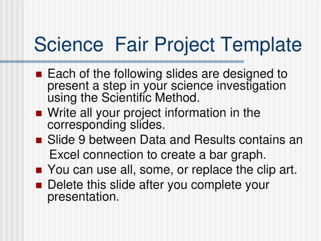 Science Fair Project Template - ppt download