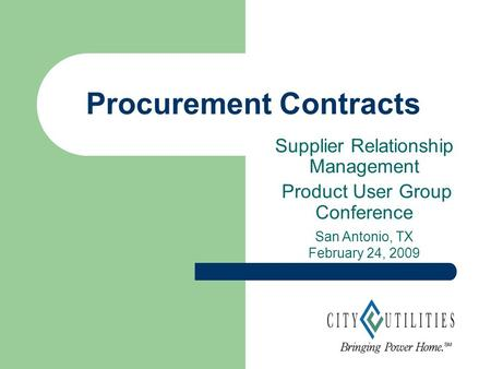 Purchasing and Distribution Services Procurement Updates ...