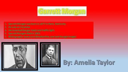 Garrett MorganGarrett Morgan Opened Up A Sewing Machine