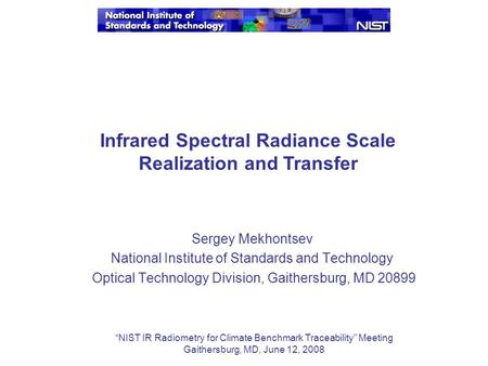 Intl. Workshop on Radiometric & Geometric Calibration Dec ...