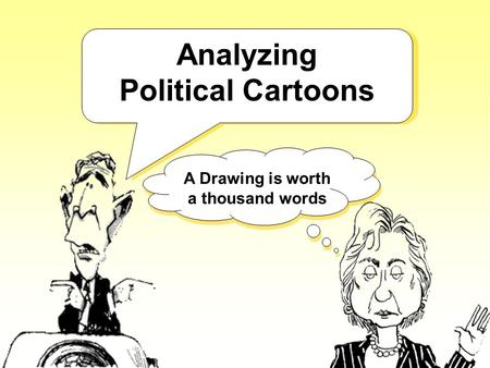 Political cartoon essay