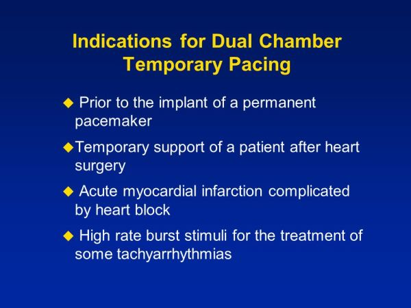 Dual Chamber Temporary Pacing Operations & Troubleshooting ...