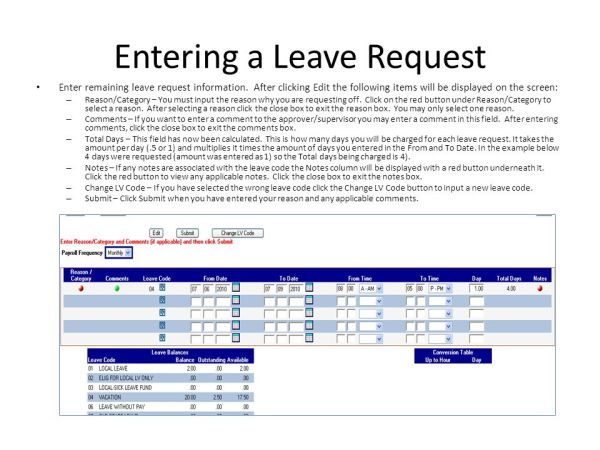 Online Leave Request Employee Training - ppt video online ...