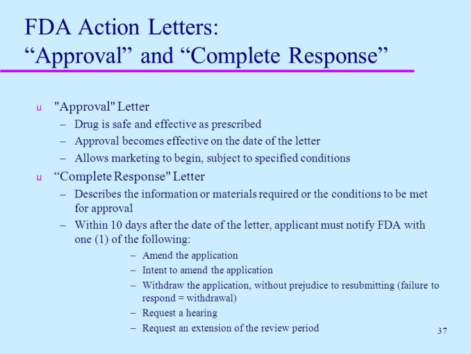 fda approval letters