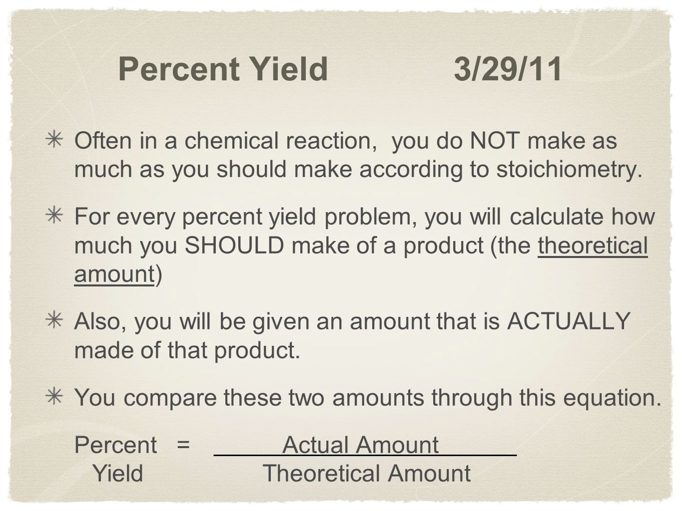 Worksheet Percent Actual And Theoretical Yield Worksheet