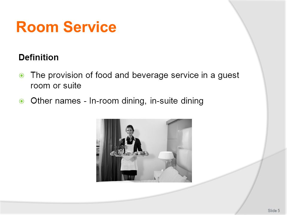 PROVIDE ROOM SERVICE D1HBSCL Ppt Download