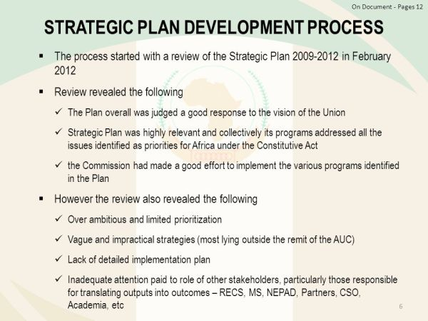 The African Union Commission The Strategic Plan - ppt download