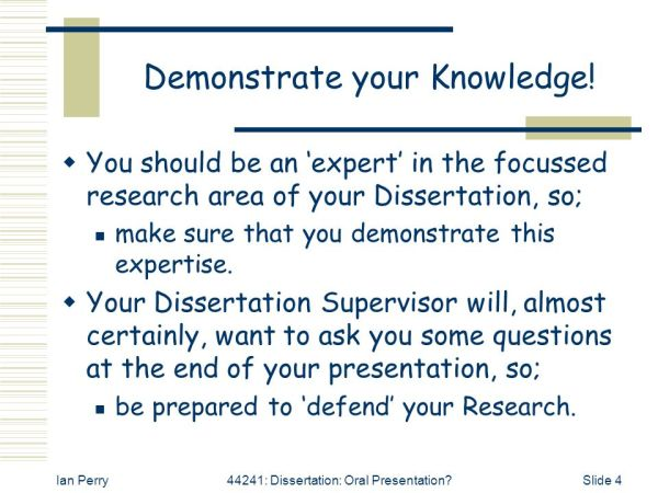 44241: Dissertation Oral Presentation? Ian Perry - ppt ...
