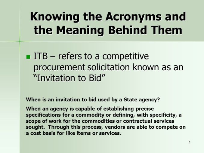 What is the meaning of invitation to bid newsinvitation knowing the acronyms and meaning behind them stopboris Choice Image
