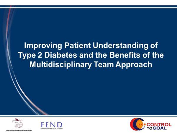 Improving Patient Understanding of Type 2 Diabetes and the ...