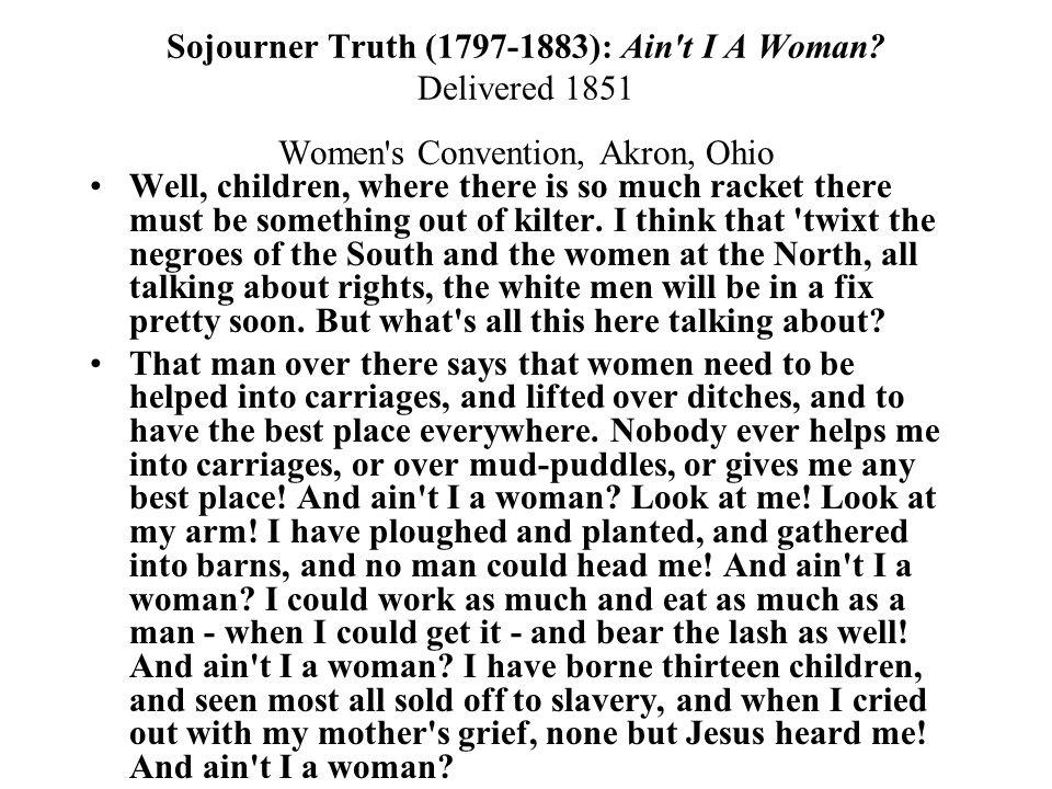 Truth Ain T I Woman