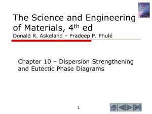 Chapter 10 – Dispersion Strengthening and Eutectic Phase