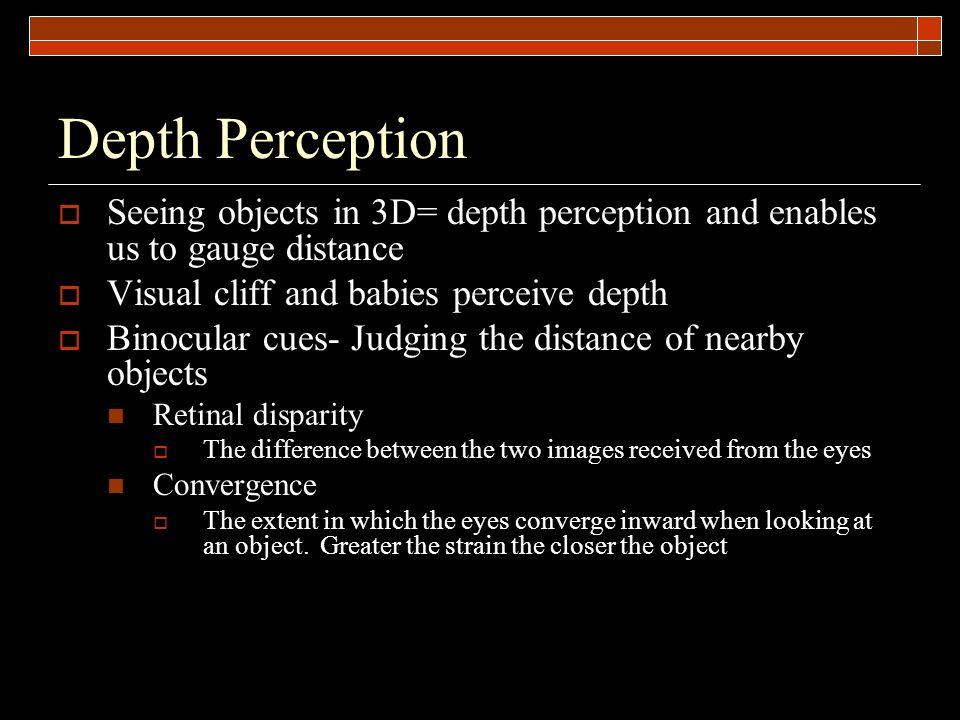 Binocular Psychology Disparity