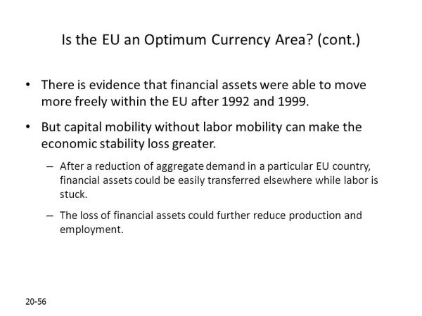 Optimum Currency Areas and the European Experience - ppt ...