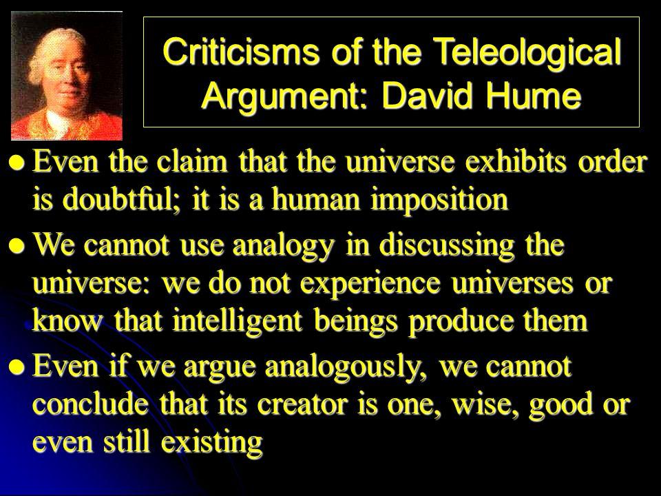 Teleological Argument Criticism