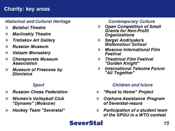 SEVERSTAL Social and Cultural Investments - ppt video ...