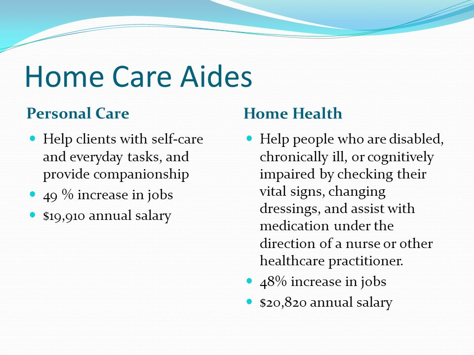 personal care aide salary