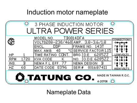 Motor nameplate cur for Siemens motor data sheet