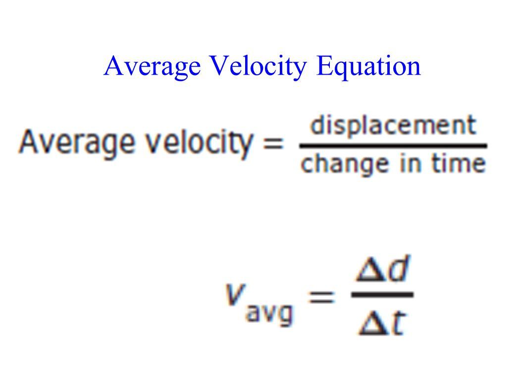 Physics Average Velocity Worksheet
