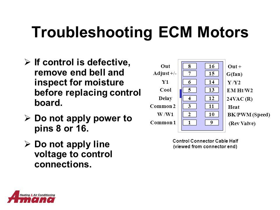 Ecm Motor Troubleshooting