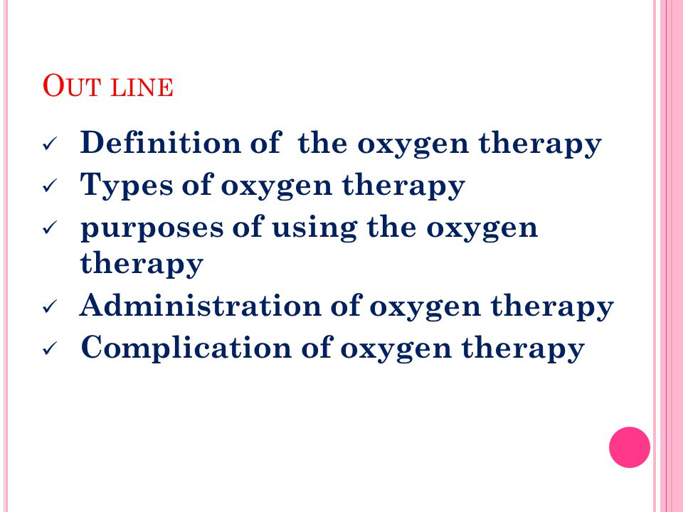 Oxygen Therapy Types