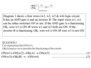 Diagram 1 shows a four wires (w1, w2, w3 & w4) logic