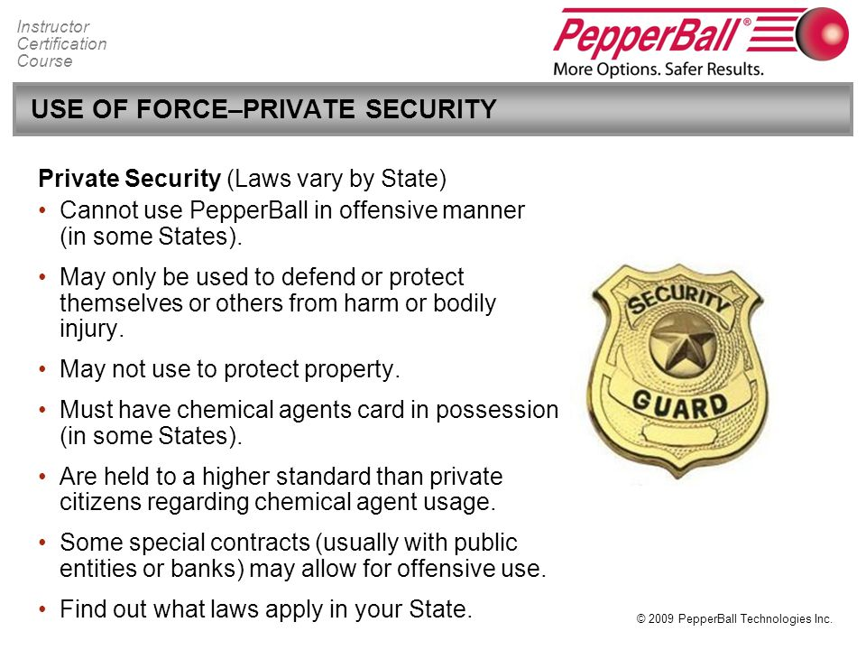 Private Security Regulations