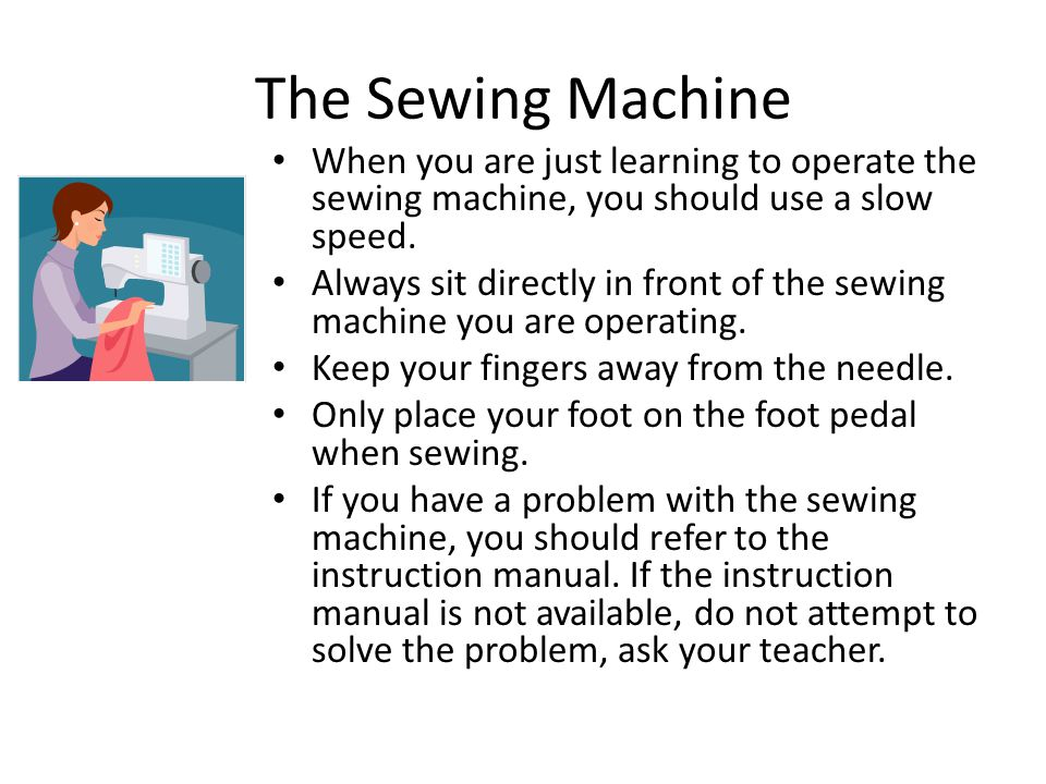 Sewing Safety Ppt Video Online Download